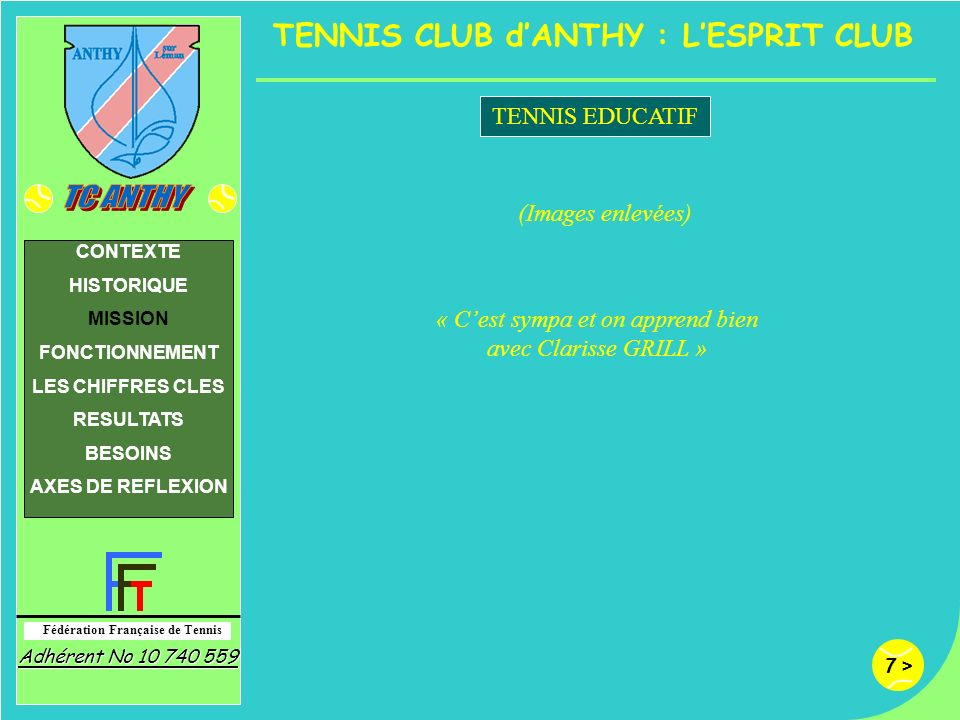 TENNIS CLUB d'ANTHY : L'ESPRIT CLUB