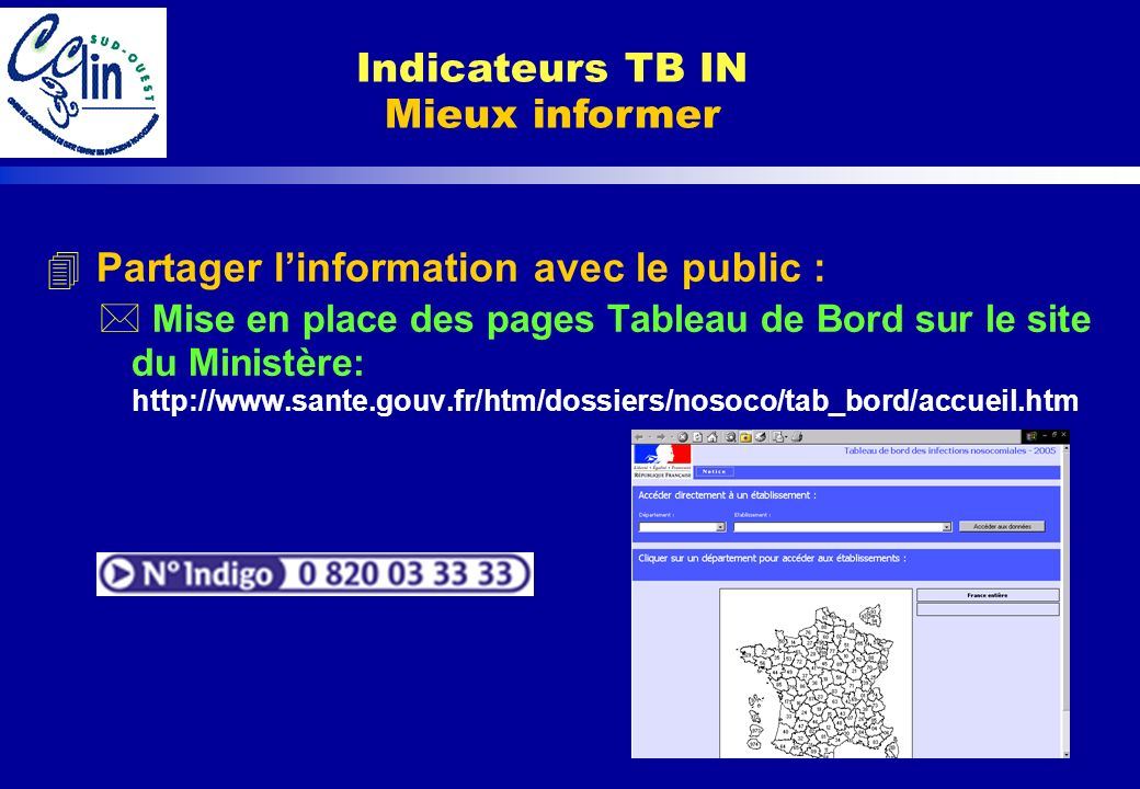 Indicateurs TB IN Mieux informer