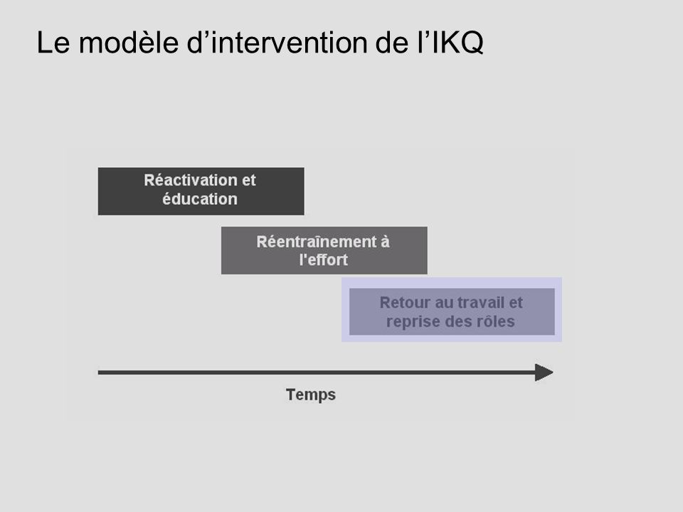 Le modèle d'intervention de l'IKQ