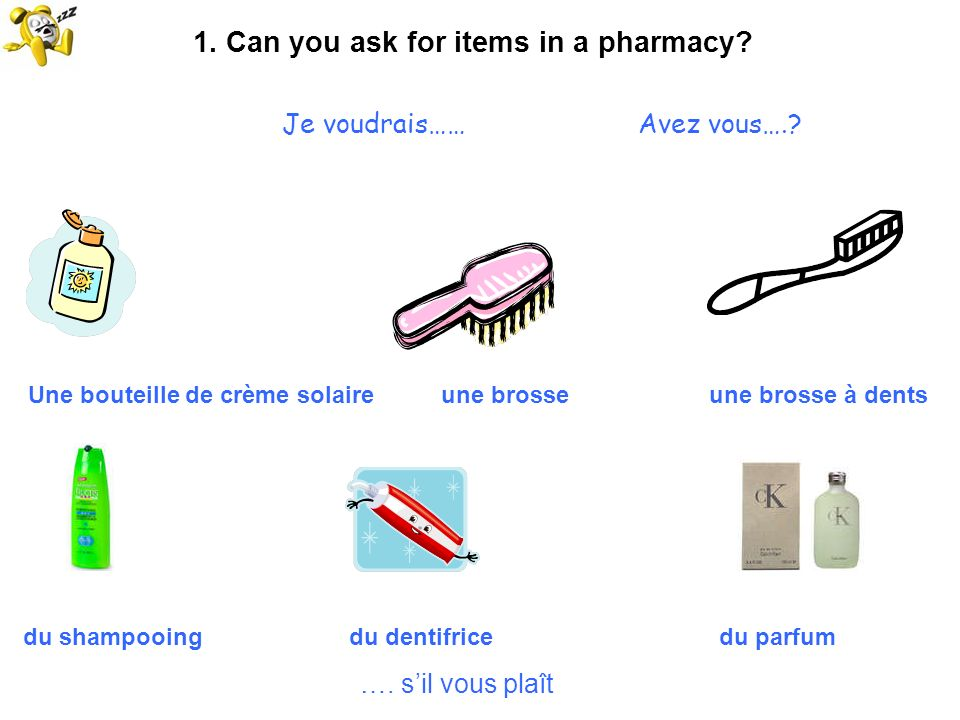 1. Can you ask for items in a pharmacy