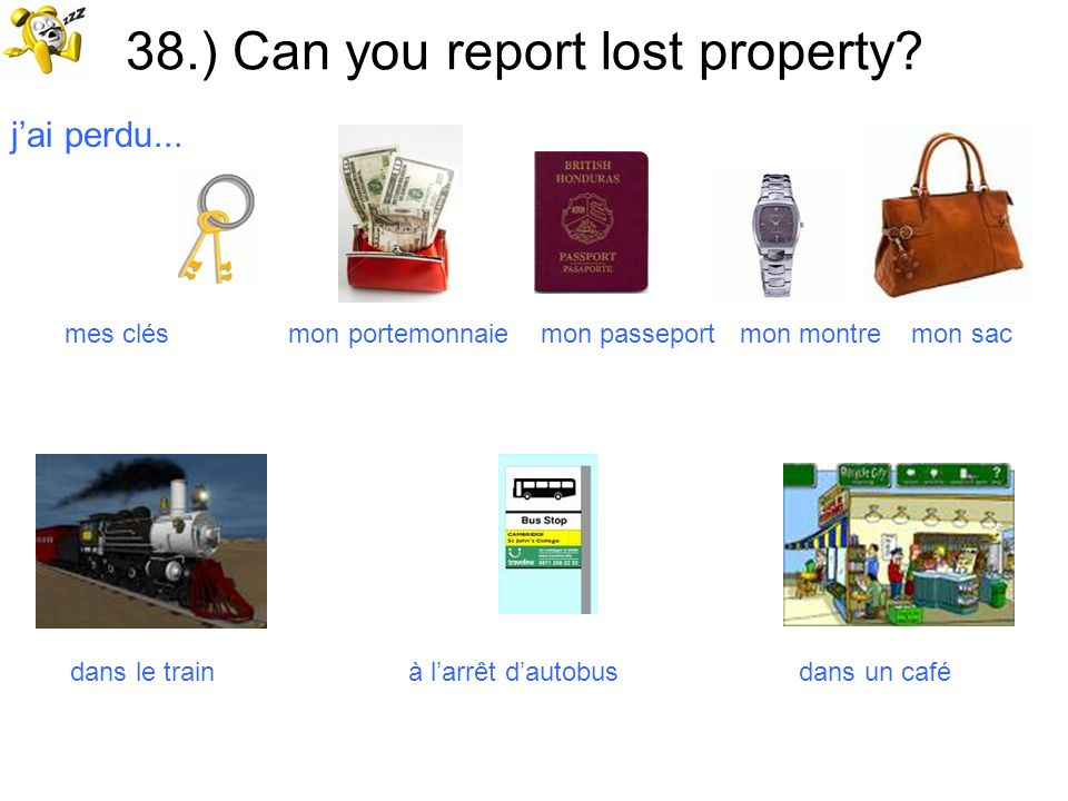 38.) Can you report lost property