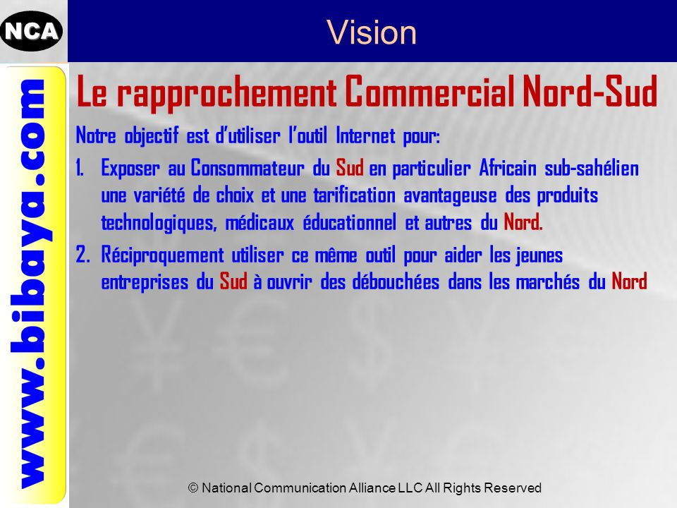 Le rapprochement Commercial Nord-Sud