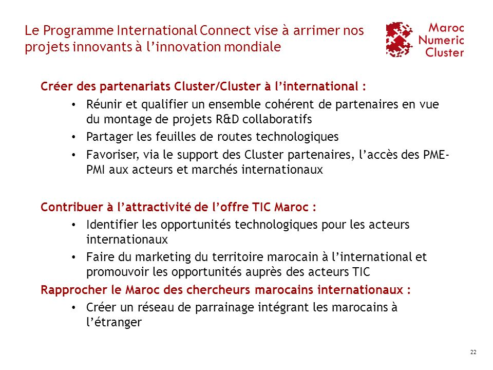 Le Programme International Connect vise à arrimer nos projets innovants à l'innovation mondiale