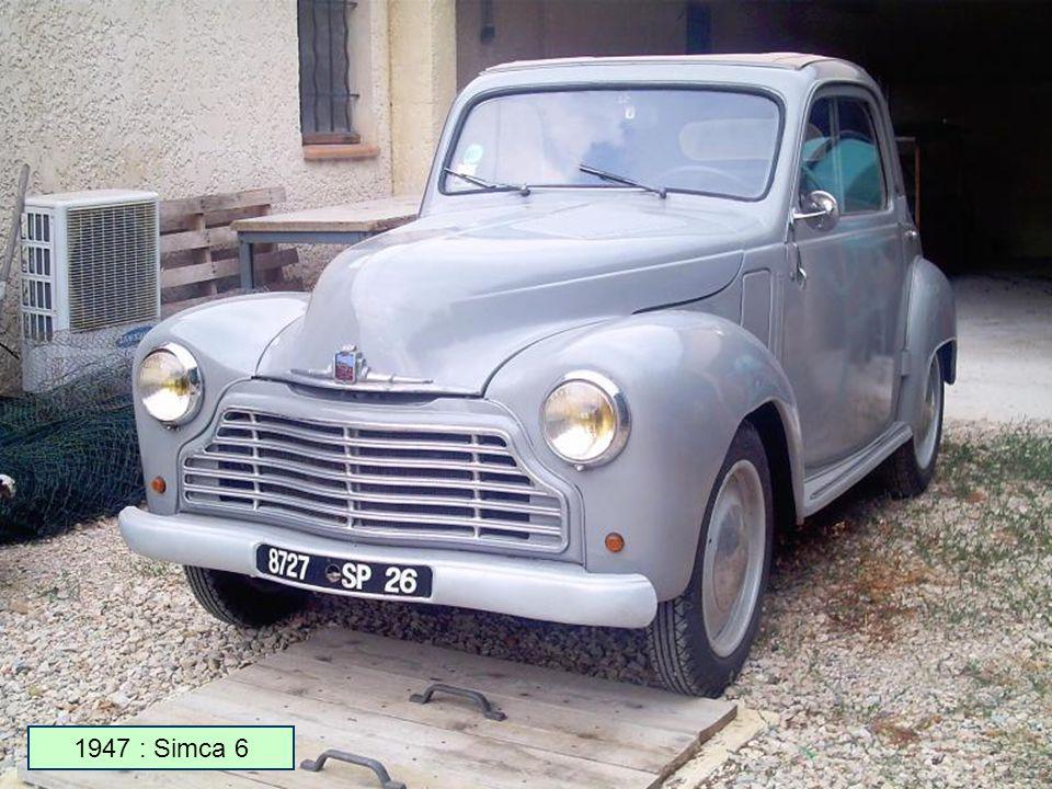 Étonnant Voiture Simca De 1950 A 1975 en 1934, simca rachète l'usine donnet à nanterre et produit des