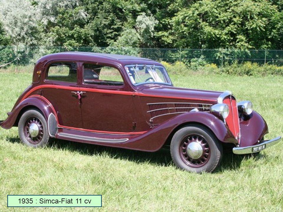 Voiture Simca De 1950 A 1975 en 1934, simca rachète l'usine donnet à nanterre et produit des