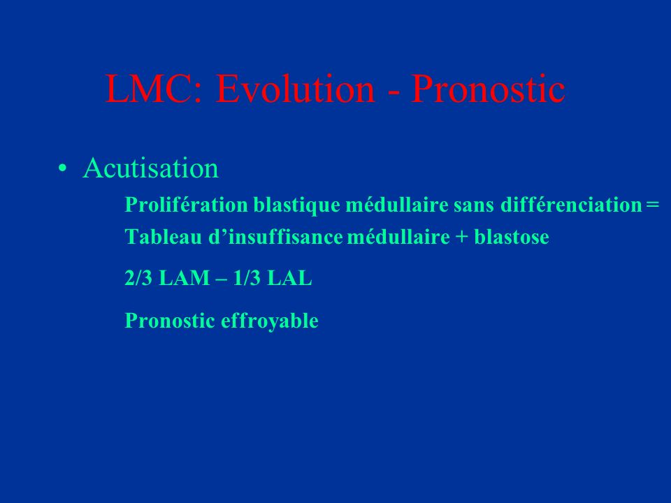 LMC: Evolution - Pronostic