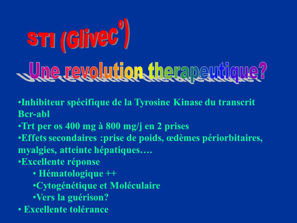 Une revolution therapeutique