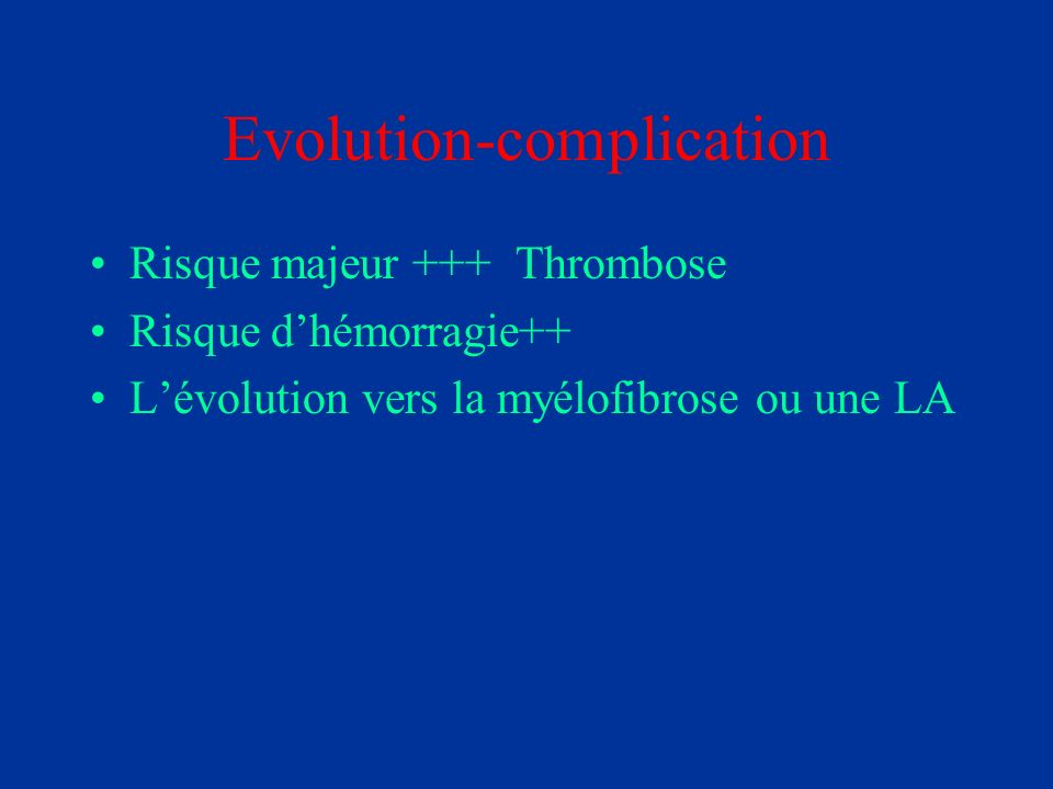 Evolution-complication