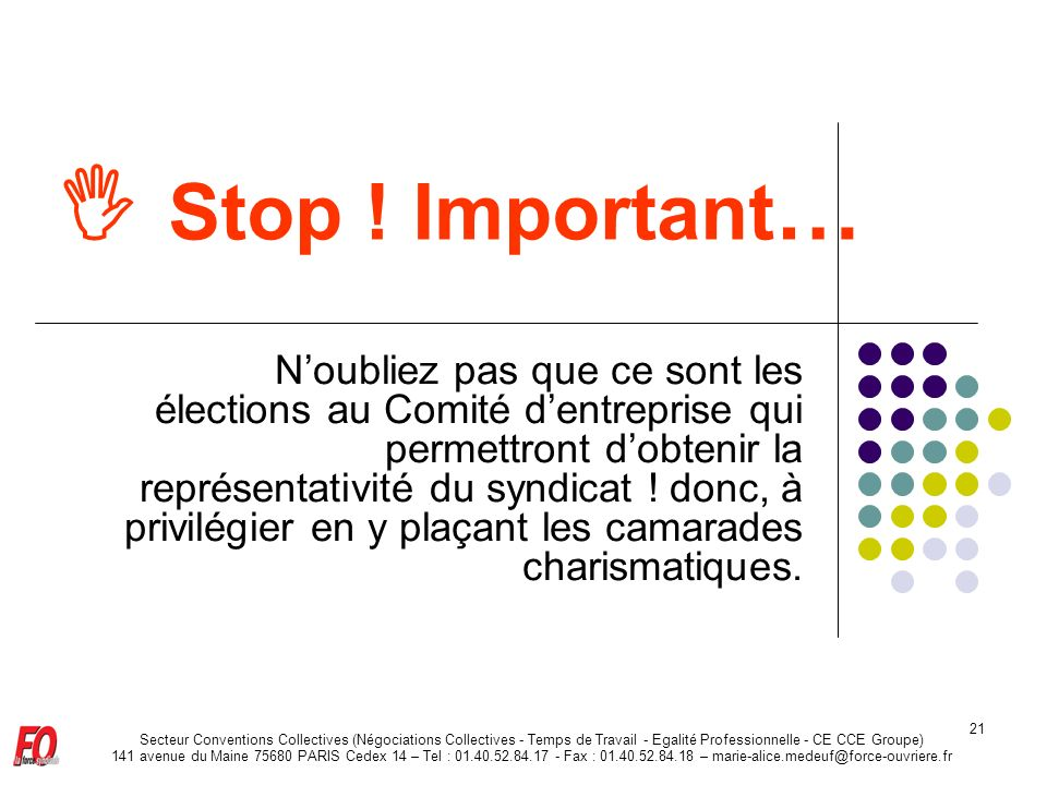 Stop ! Important…