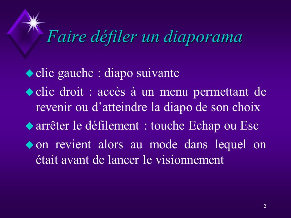 Faire défiler un diaporama