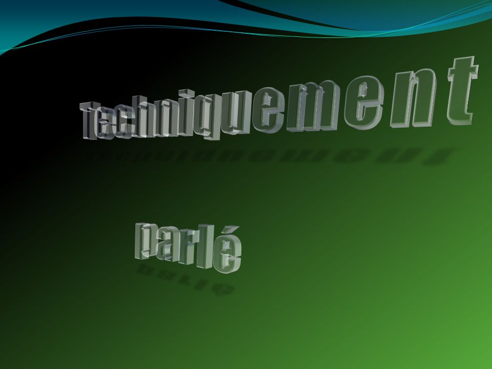 Techniquement parlé Clear, floating 3-D text (Intermediate)
