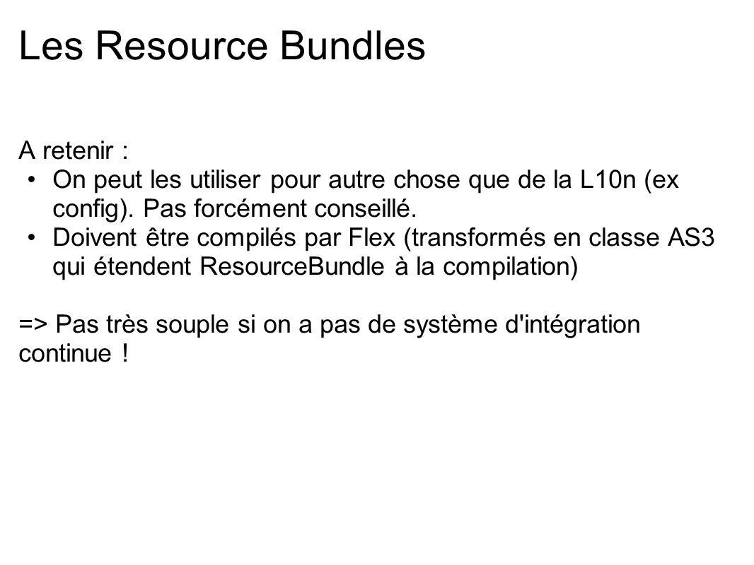 Les Resource Bundles A retenir :
