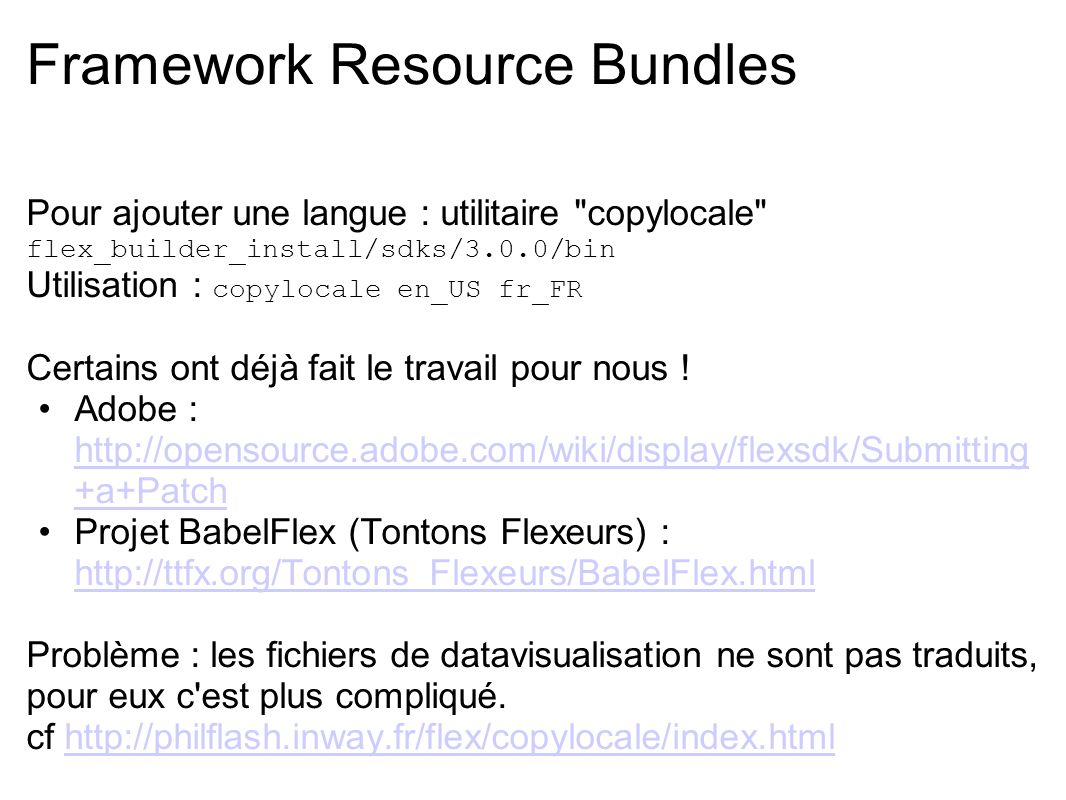 Framework Resource Bundles