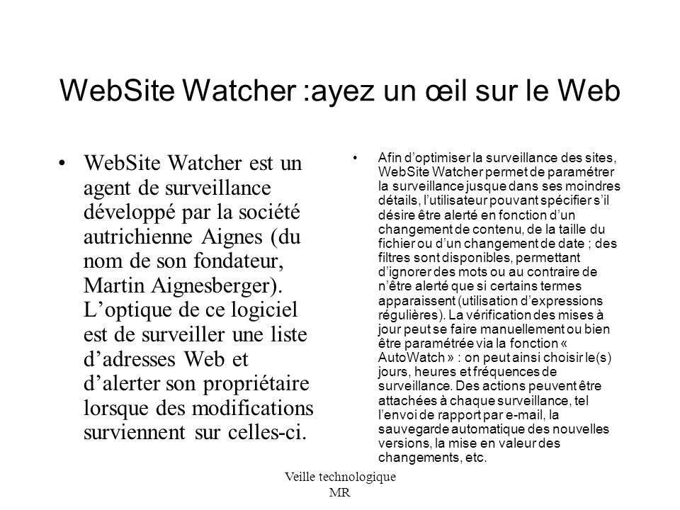 WebSite Watcher :ayez un œil sur le Web