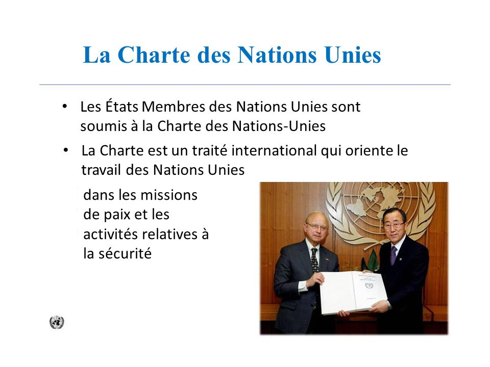 La Charte des Nations Unies