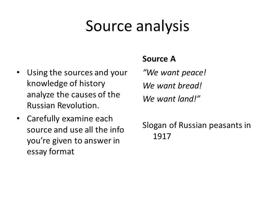 Source analysis Source A