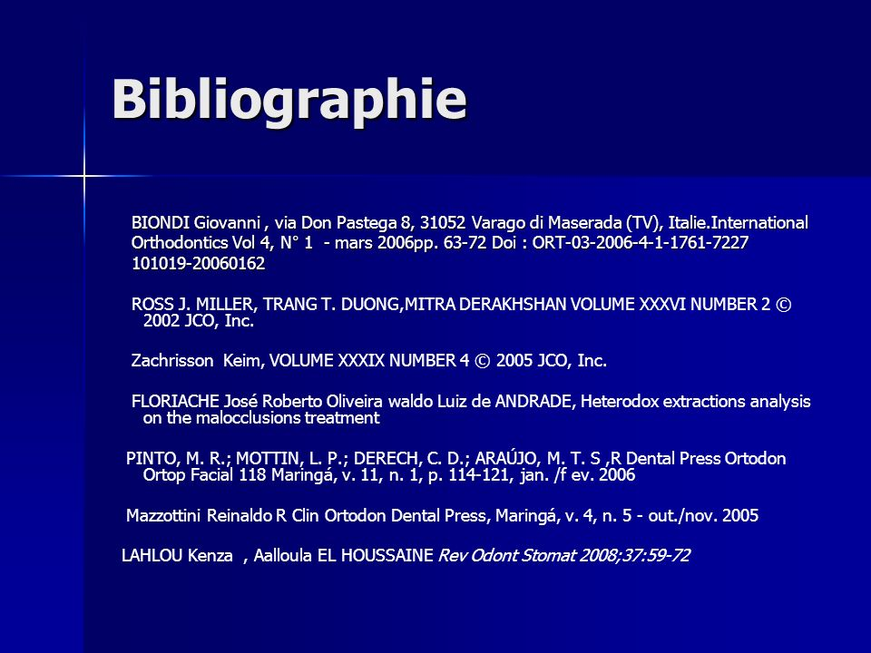Bibliographie BIONDI Giovanni , via Don Pastega 8, Varago di Maserada (TV), Italie.International.