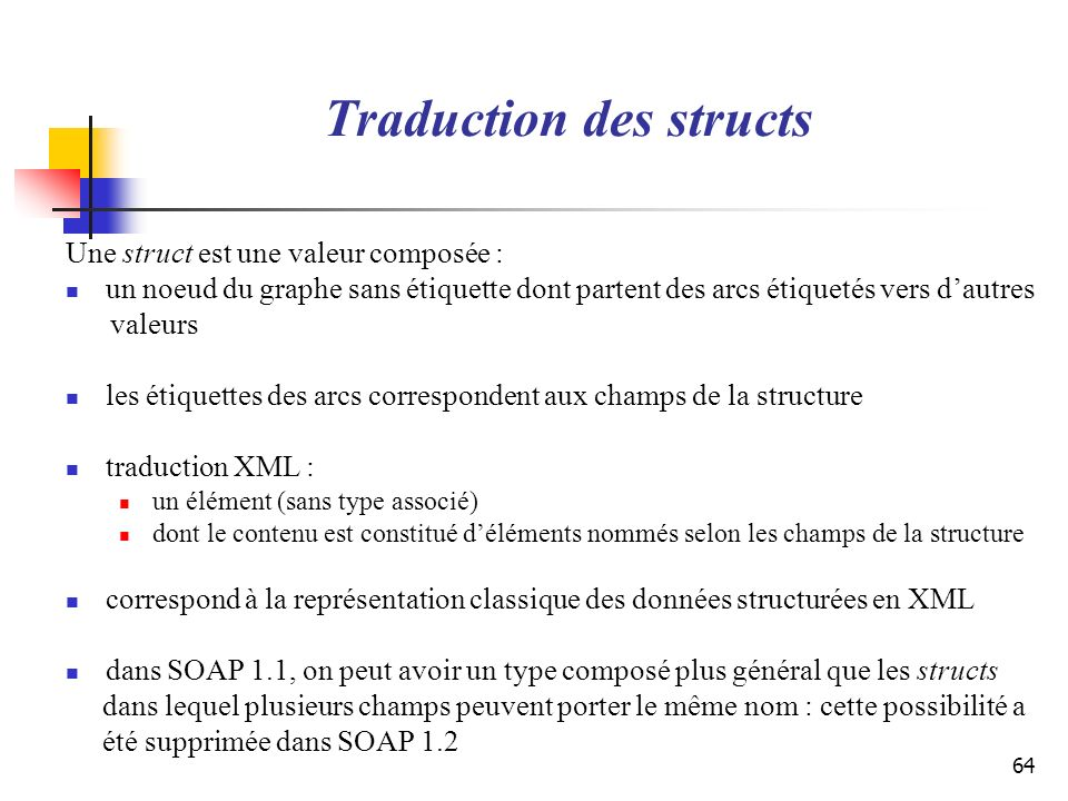 Traduction des structs