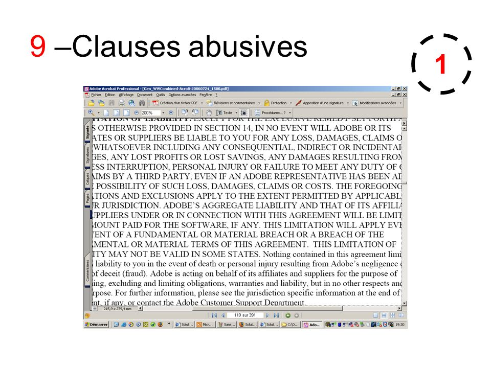9 –Clauses abusives 1