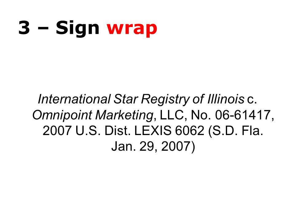 3 – Sign wrap International Star Registry of Illinois c.