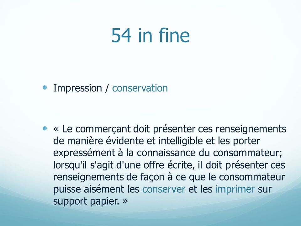 54 in fine Impression / conservation