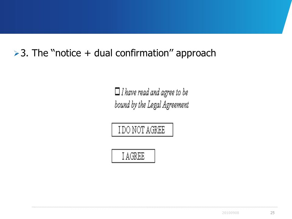 3. The ''notice + dual confirmation'' approach