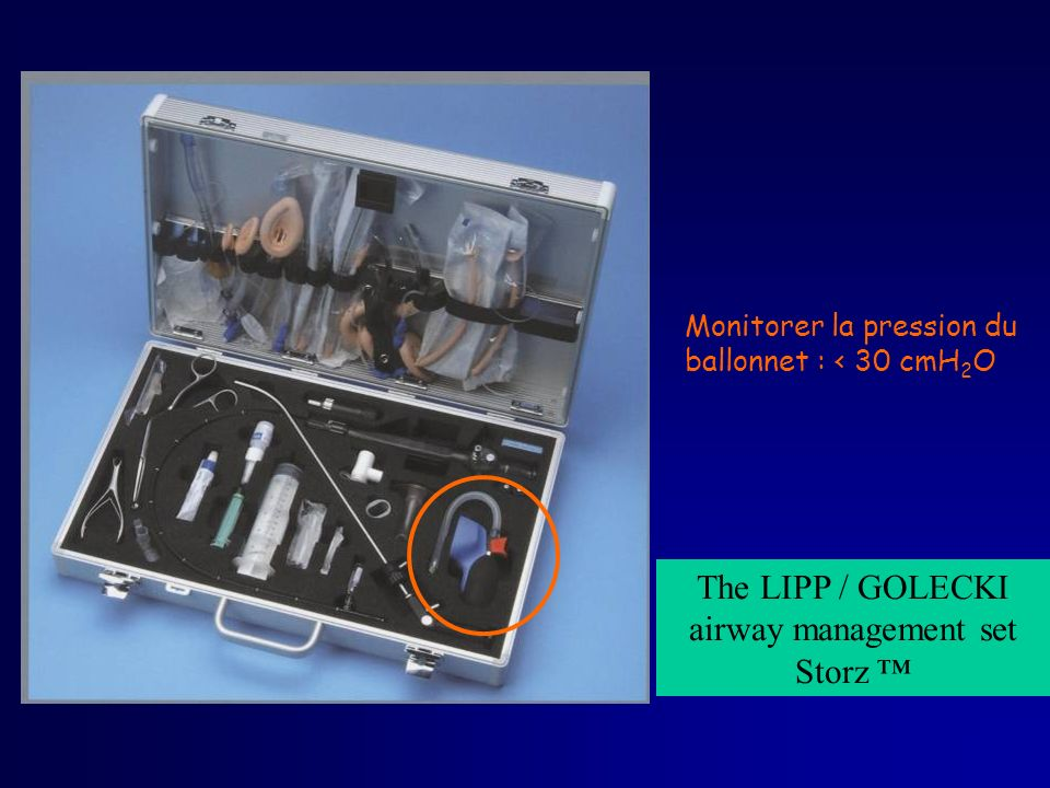 The LIPP / GOLECKI airway management set Storz ™
