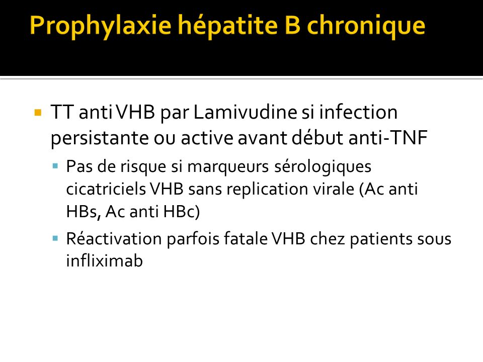 Prophylaxie hépatite B chronique