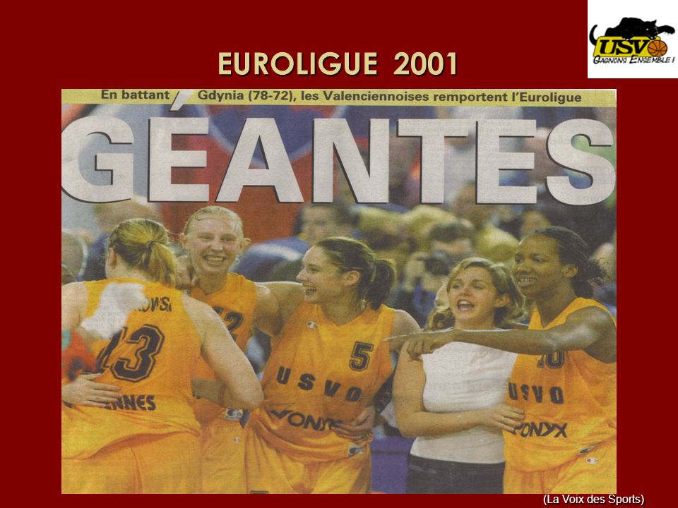 EUROLIGUE 2001 (La Voix des Sports)