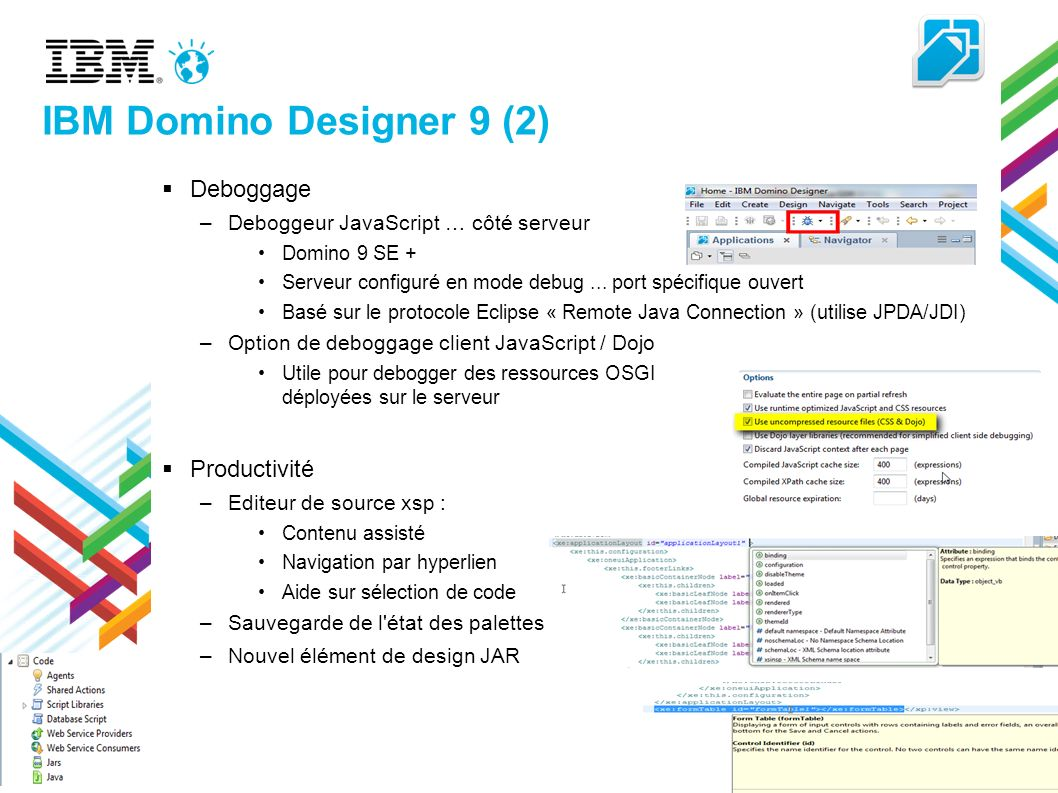 IBM Domino Designer 9 (2) Deboggage Productivité