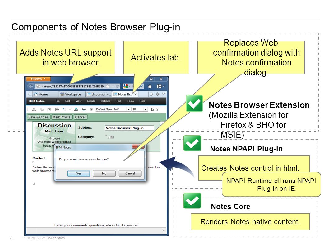 Components of Notes Browser Plug-in