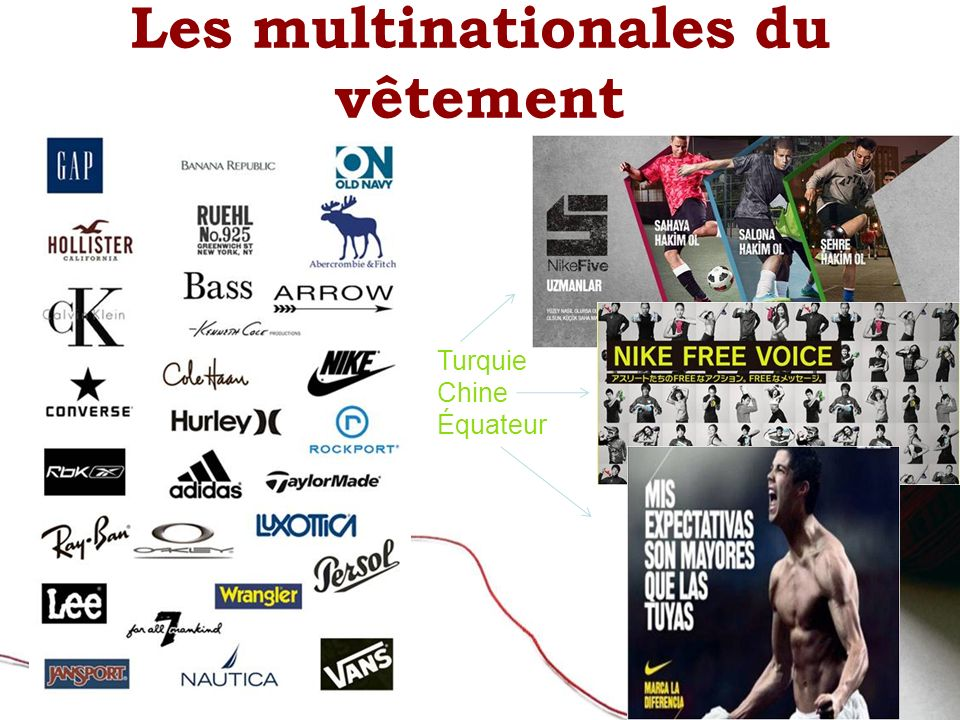 Les multinationales du vêtement