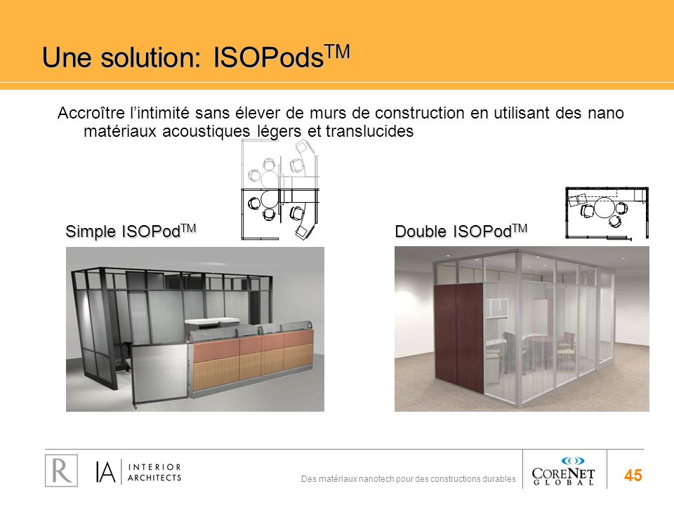 Une solution: ISOPodsTM