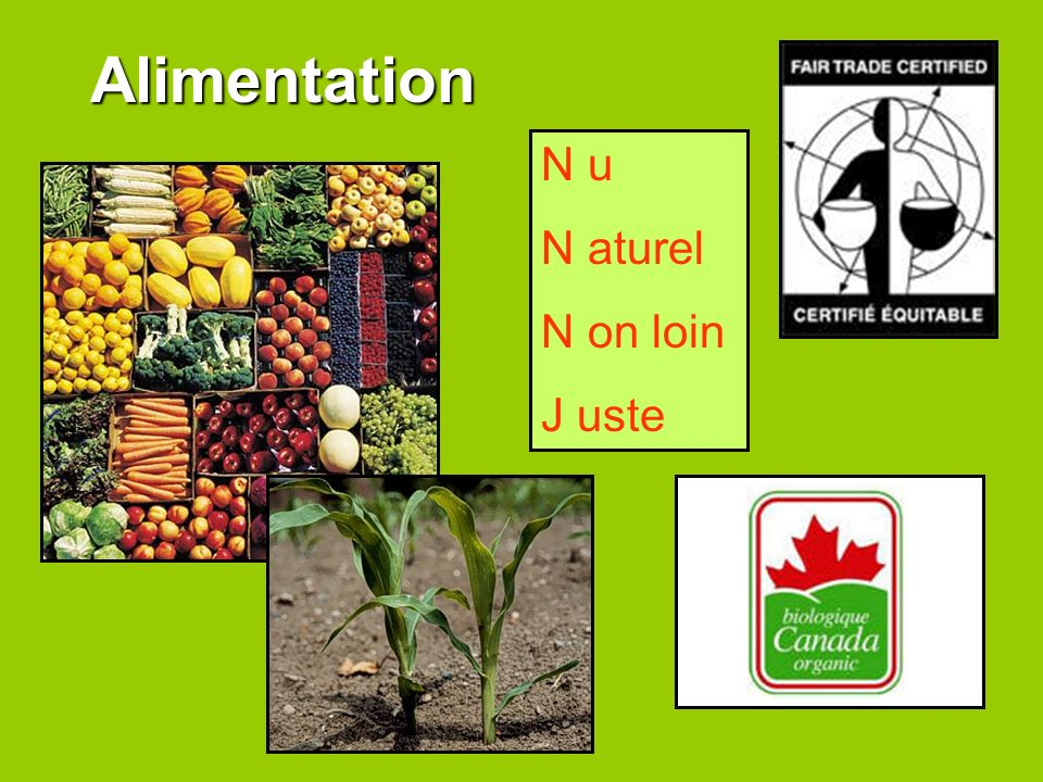 Alimentation N u N aturel N on loin J uste