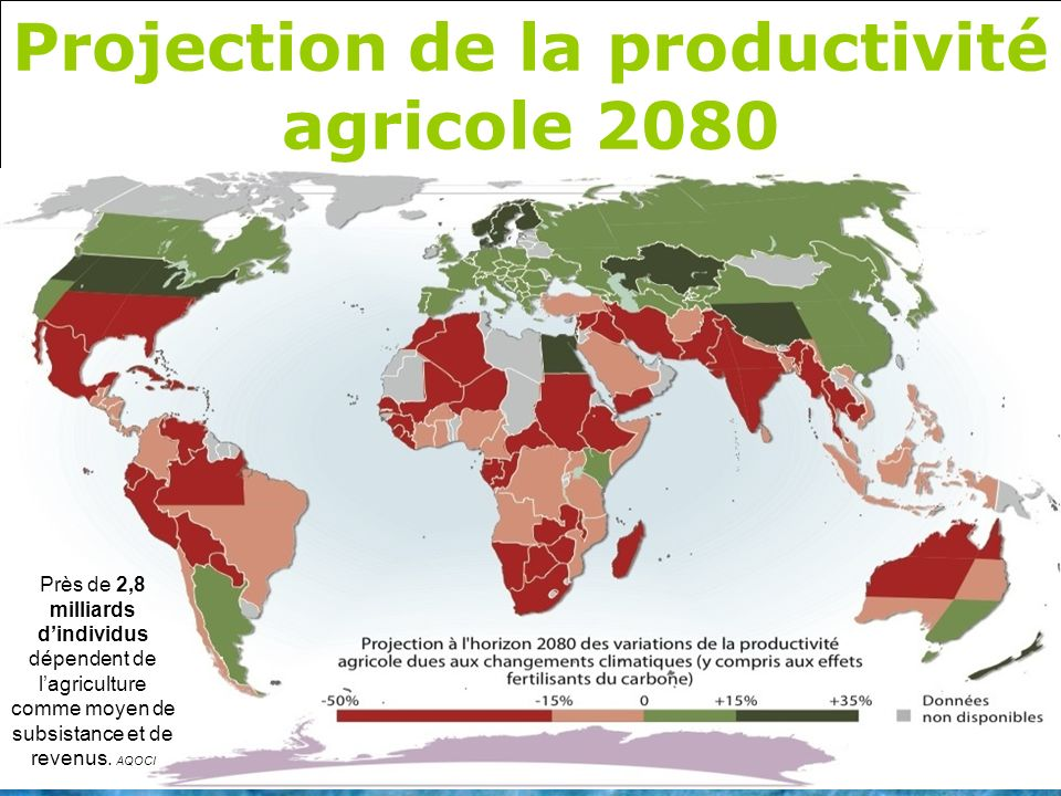 Projection de la productivité agricole 2080