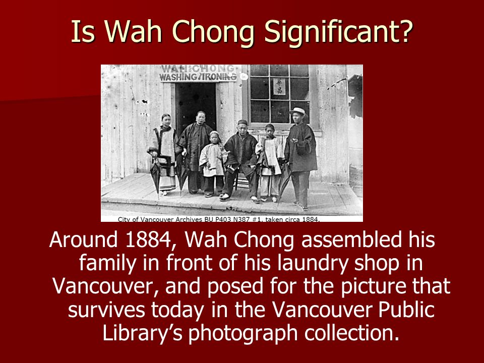 Is Wah Chong Significant