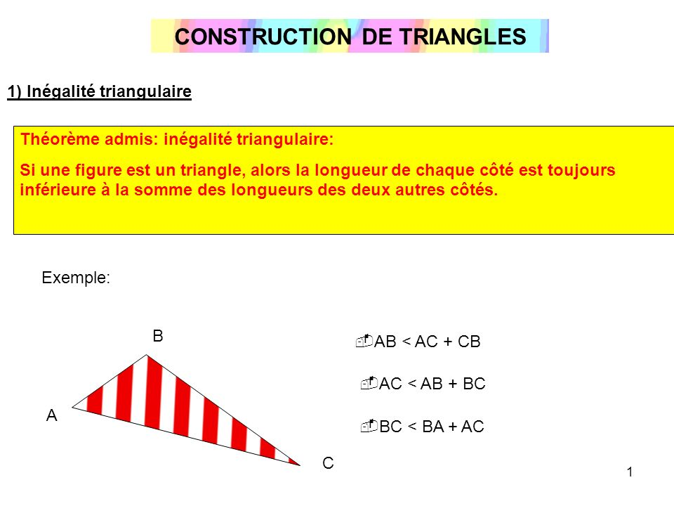 CONSTRUCTION DE TRIANGLES