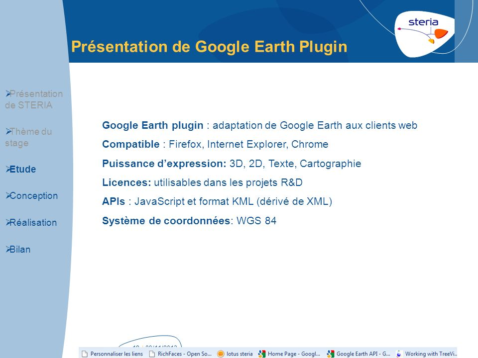 Présentation de Google Earth Plugin