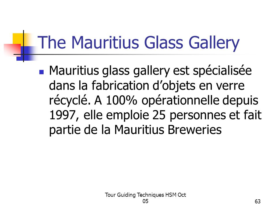 The Mauritius Glass Gallery