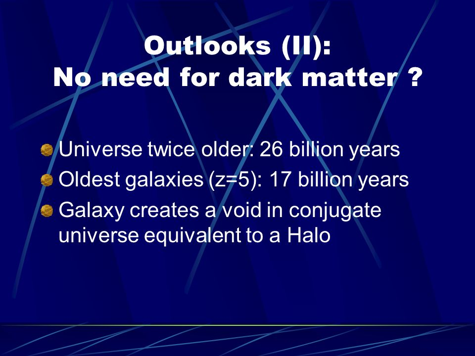 Outlooks (II): No need for dark matter