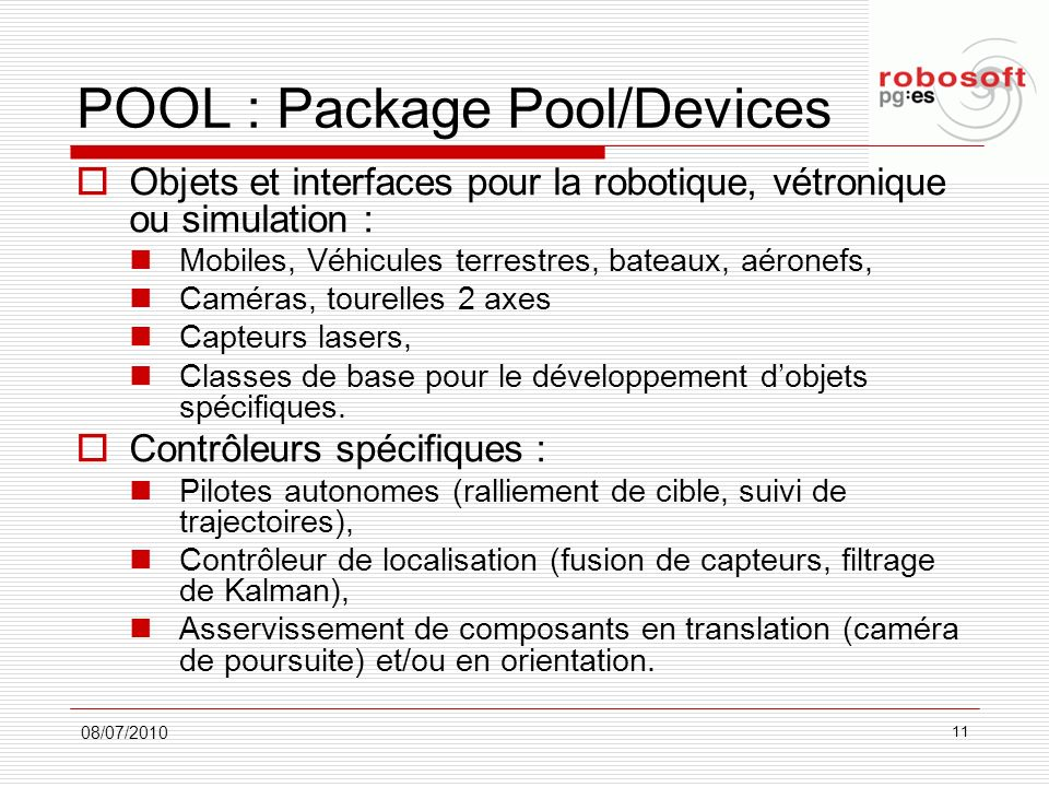 POOL : Package Pool/Devices