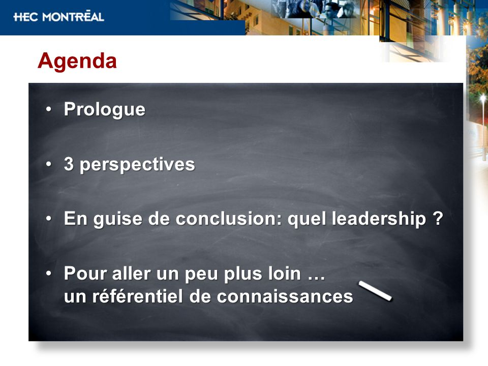 Agenda Prologue 3 perspectives