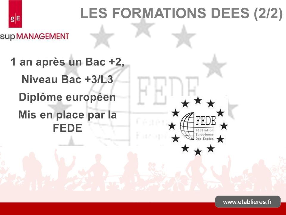 LES FORMATIONS DEES (2/2)