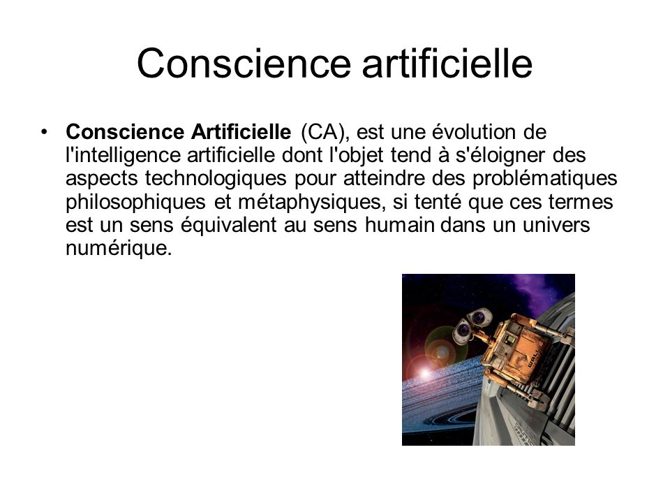 Conscience artificielle