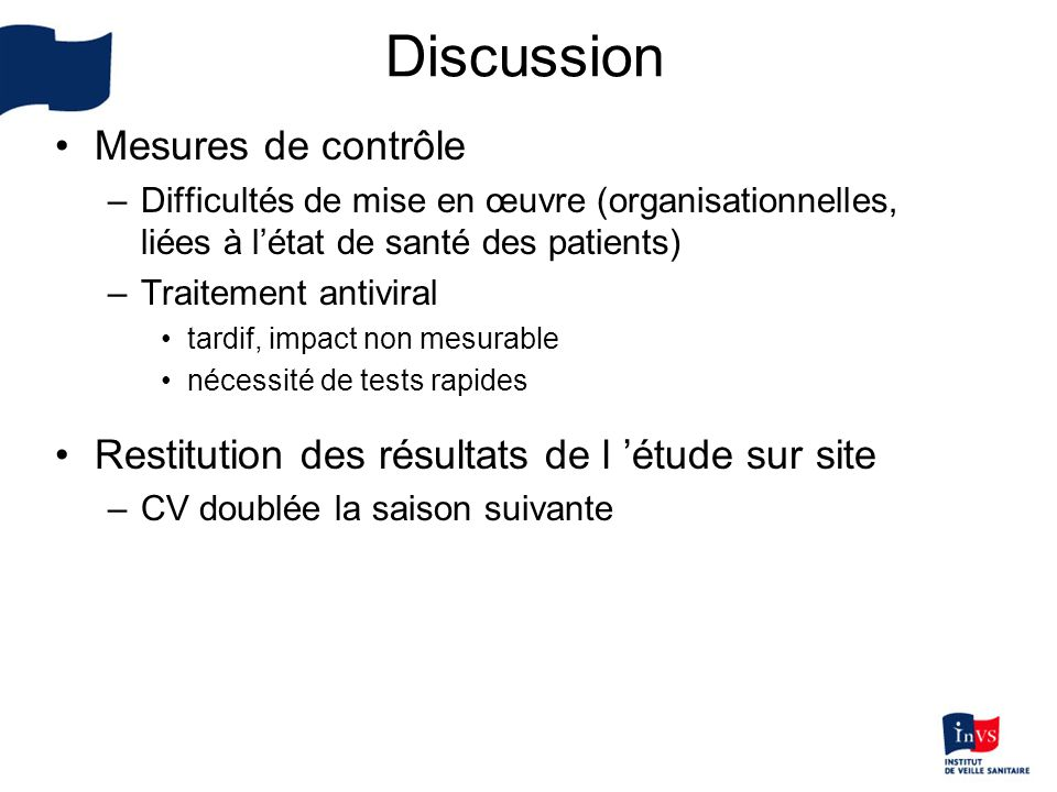 Discussion Mesures de contrôle