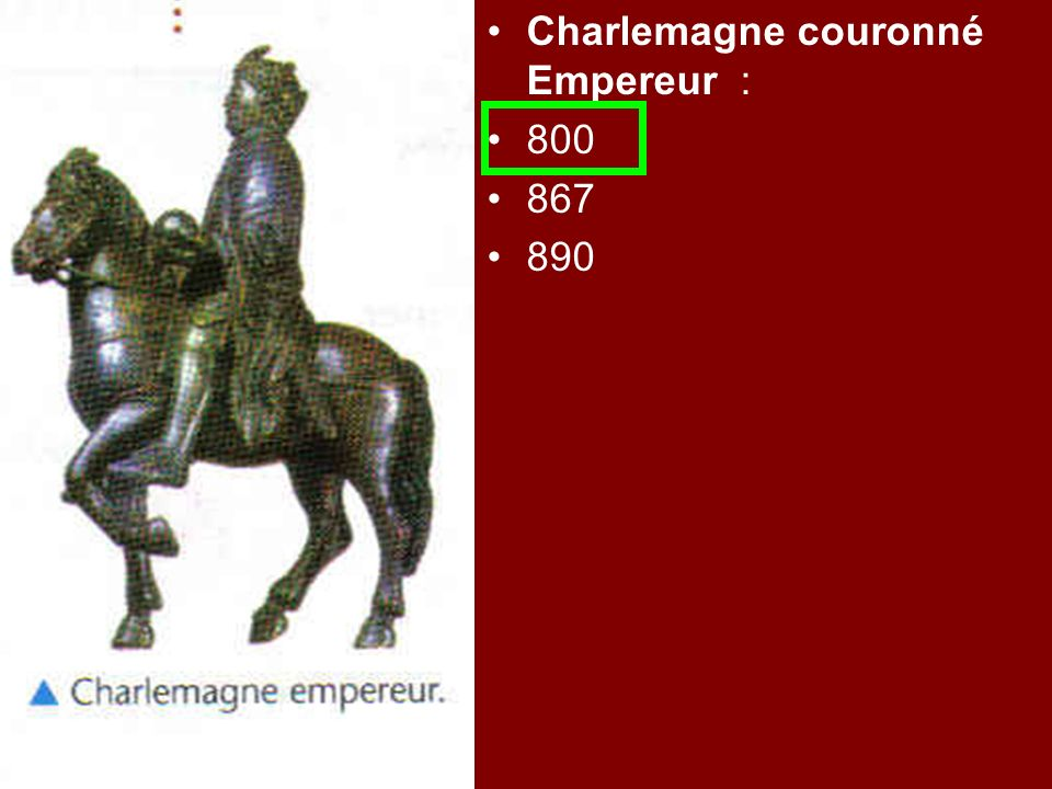 Charlemagne couronné Empereur :