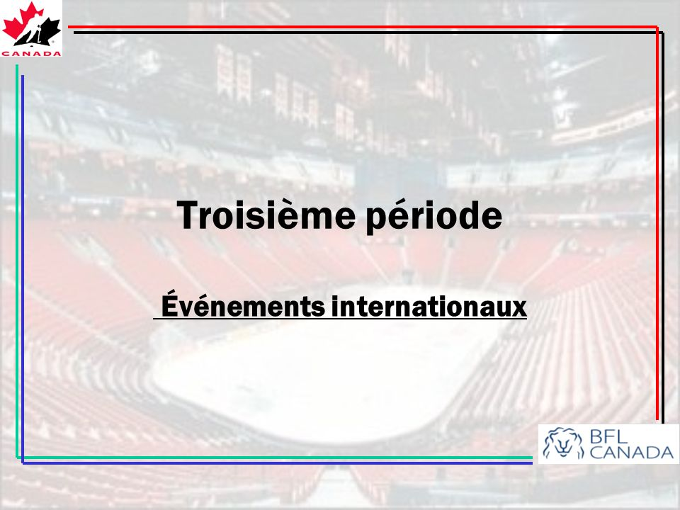 Événements internationaux