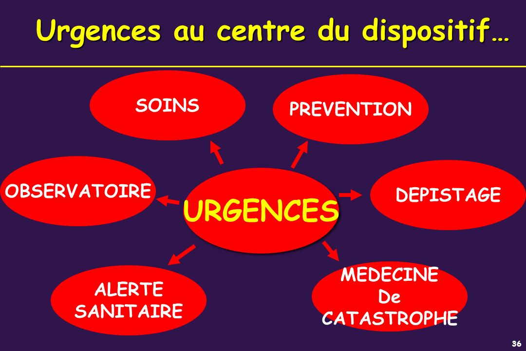Urgences au centre du dispositif…