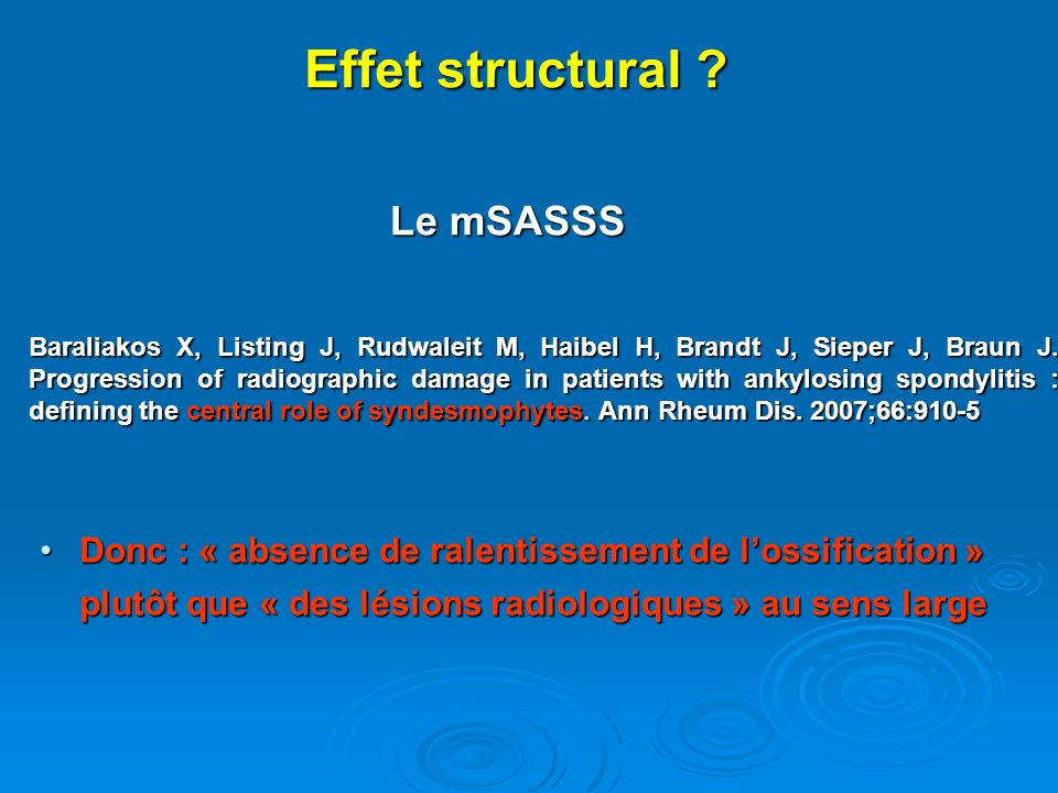 Effet structural Le mSASSS