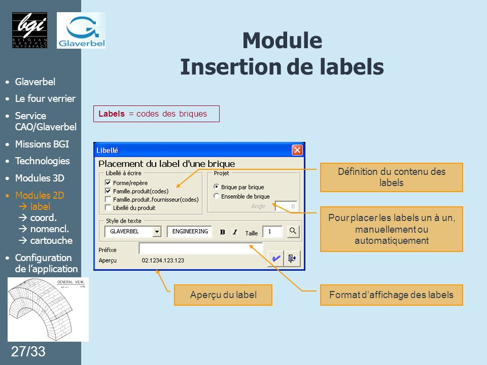 Module Insertion de labels